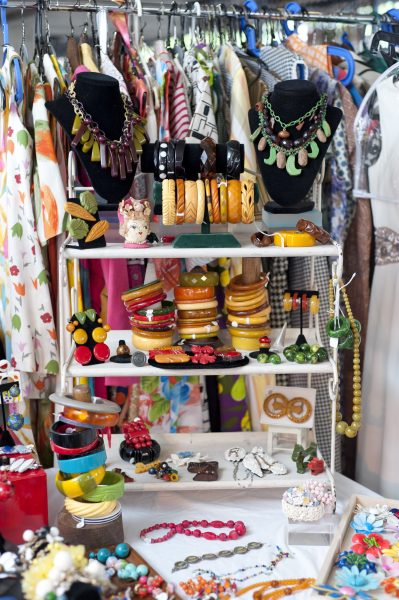 Colorful bakelite bracelets and plastics are just one thing Wini and I carries. See her at the Chicago Vintage Clothing and Jewelry Show!
