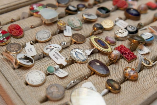 Vintage rings at the Chicago Vintage Clothing and Jewelry show!