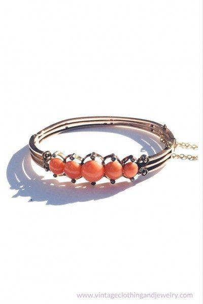 Cvcj Antique Jewelry 9ct English C Bracelet Chicago Vintage