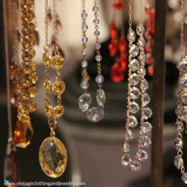 Vintage Jewelry highlights their booth and are regulars at the Chicago Vintage Clothing and Jewelry Show.