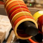 Bakelite bracelets at the Chicago Vintage Clothing and Jewelry Show February in Edgewater