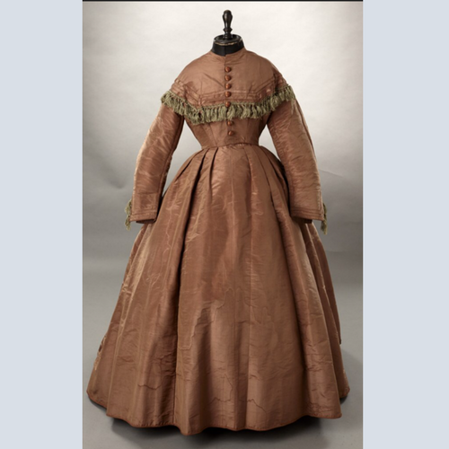 Civil War Era Silk Dress 1800's CVCJ Janet Swartz of Woodland Farms at the Chicago Vintage Clothing & Jewelry Show