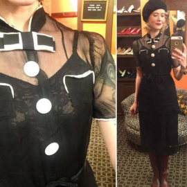 Karyn Dethrose at the chicago vintage Clothing and Jewelry show February
