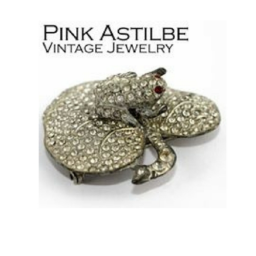 Pink Astilbe at the Chicago Vintage Clothing and Jewelry show CVCJ