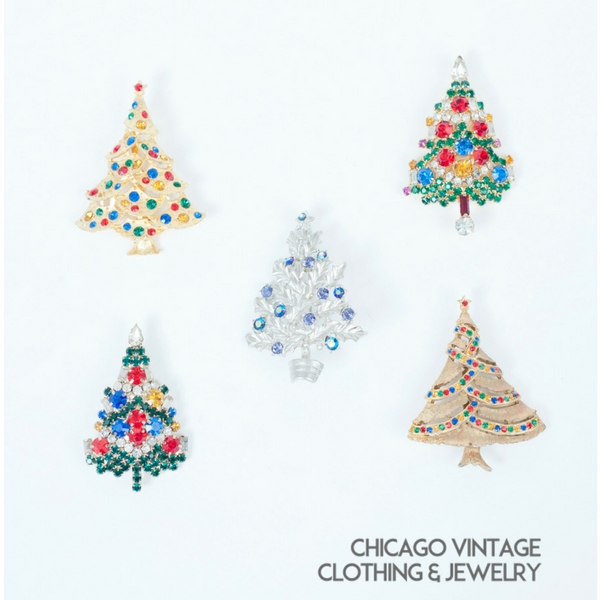 731306692 Collecting Vintage Christmas Tree Pins • Chicago Vintage Clothing and  Jewelry Show