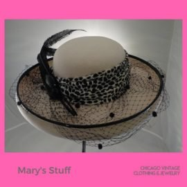 1 Marys Stuff 1960s hat at the Chicago Vintage Clothing and Jewelry show