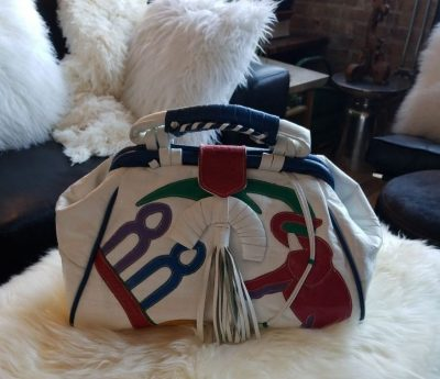 1980's handbag at the Chicago Vintage Clothing and jewelry show
