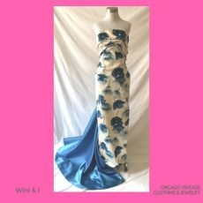 2 400 Norine Wini and I vintage gown floral with train by