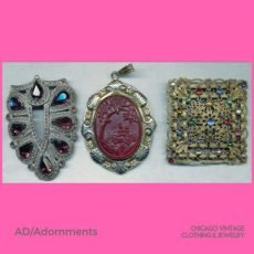 2 Kathy domonokos AD Adornments vintage brooch and fur clip