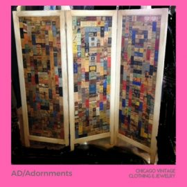 3 Kathy domonokos AD Adornments screen with 1920s matchbooks