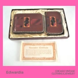 Denise Burns of Edwardia bring handbags of all kinds, including her specialty hand tooled handbags Chicago Vintage Clothing and Jewelry