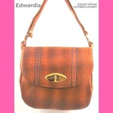 Edwardia hand tooled handbag at the Chicago Vintage Clothing and Jewelry Show