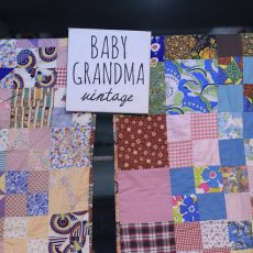 Baby Grandma has wonderful textiles and fabrics at the Chicago Vintage Clothing and Jewelry show.