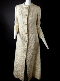 1960's Metallic Brocade Evening Gown & Coat, Size-4 at the Chicago Vintage Clothing and Jewelry show from Vintage Martini