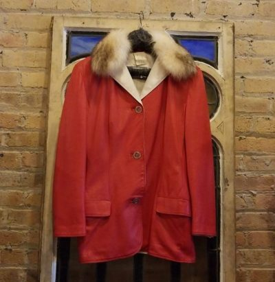 Gianni Versace jacket at the Chicago Vintage Clothing and Jewelry Show