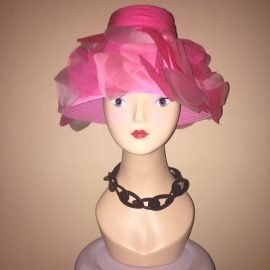 ShytownGirl Vintage at the Chicago Vintage Clothing and Jewelry Show Vintage Hat Pink