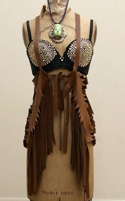 Michael Morrison studded bralette 1978 at the Chicago Vintage Clothing and Jewelry Show.