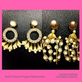 North Shore Frugal Fashionista Vintage Miriam Haskell Earrings