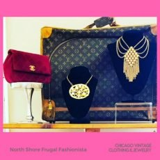 North Shore Frugal Chanel Louis Vuitton and vintage jewelry at the Chicago Vintage Clothing and Jewelry show
