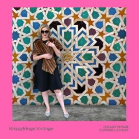 Vintage fashion is their specialty. Krispy Fringe Vintage brings their coolest vintage fashion to the Chicago Vintage Clothing & Jewelry show March 23