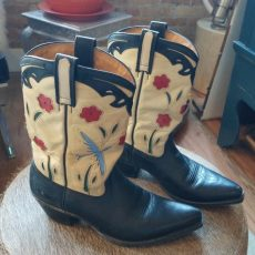 cowboy boots at the Chicago Vintage Clothing and Jewelry show