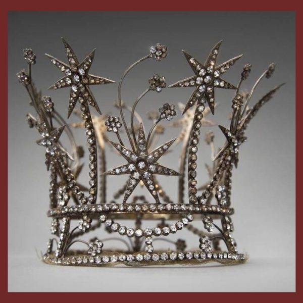 Crown Joseff of Hollywood jewelry necklace. Hollywood vintage costume jewelry.